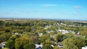 Carbondale, Kansas-view from on top of the warter tower