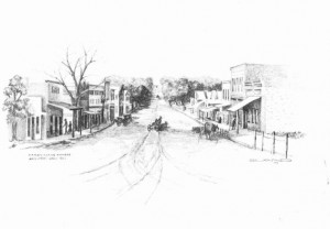 Main St Carbondale, Kansas 1800's